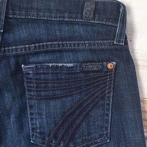 7 For All Mankind Jeans - 7 For All Mankind Dojo Flare Leg Denim Jeans 26
